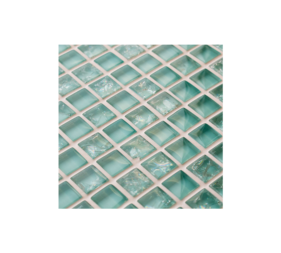 Starburst Glass and Stone Mosaic Tiles
