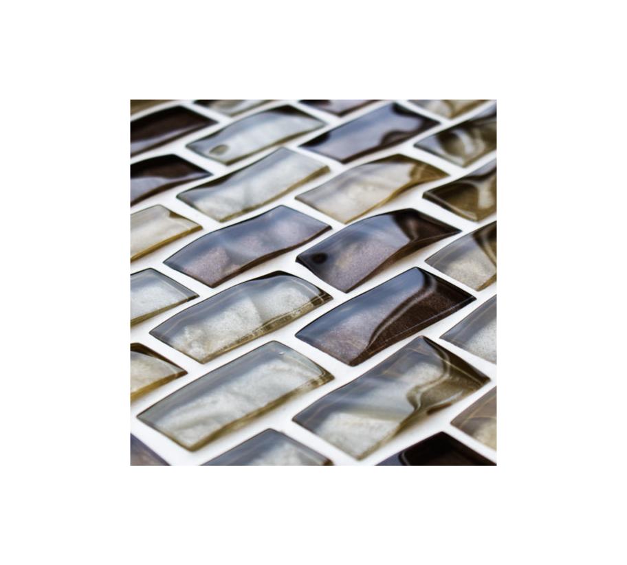 Reflections Textured Mosaic Brick Tiles