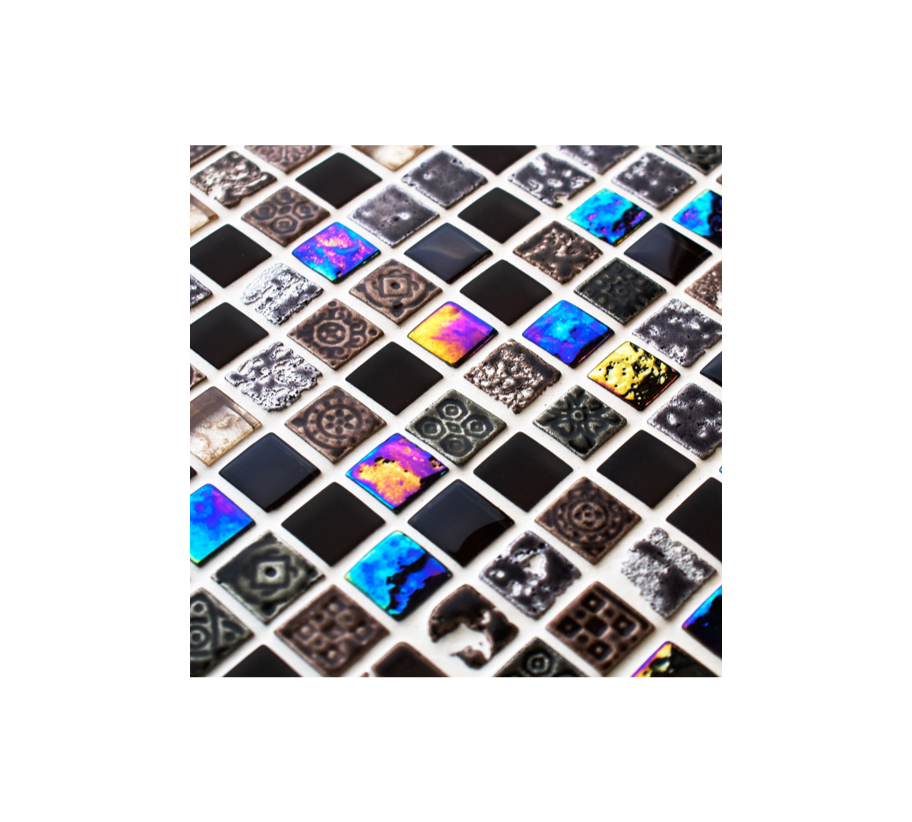 Aztec Glass and Stone Mosaic Tiles